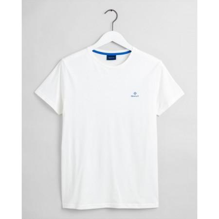 T-Shirt Contrast Logo, em 100% algodão, é uma t-shirt com um decote redondo clássico e logótipo em cor contrastante no peito.