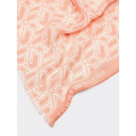 A estampa de estilo geométrico contém o logotipo do monograma para adicionar uma marca sutil tom sobre tom a este lenço de algodão.