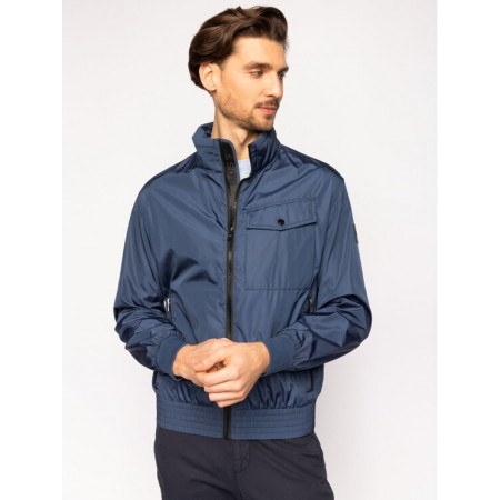Blusão Boss em nylon em cor azul