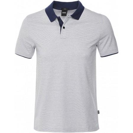 Polo BOSS Plater 11. Com um ajuste fino e confecionado em jersey de algodão premium, o polo oferece conforto durante todo o dia.