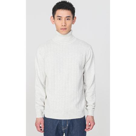 Camisola gola alta da Antony Morato foi feito inteiramente com um fio de lã e algodão de alta qualidade. Tem ponto liso com padrão geométrico