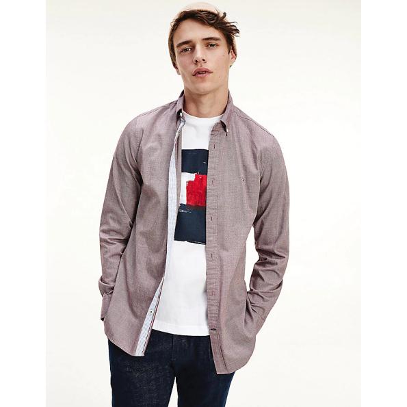 Camisa Tommy Hilfiger_MW0MW14011_VLP_bordeau_1