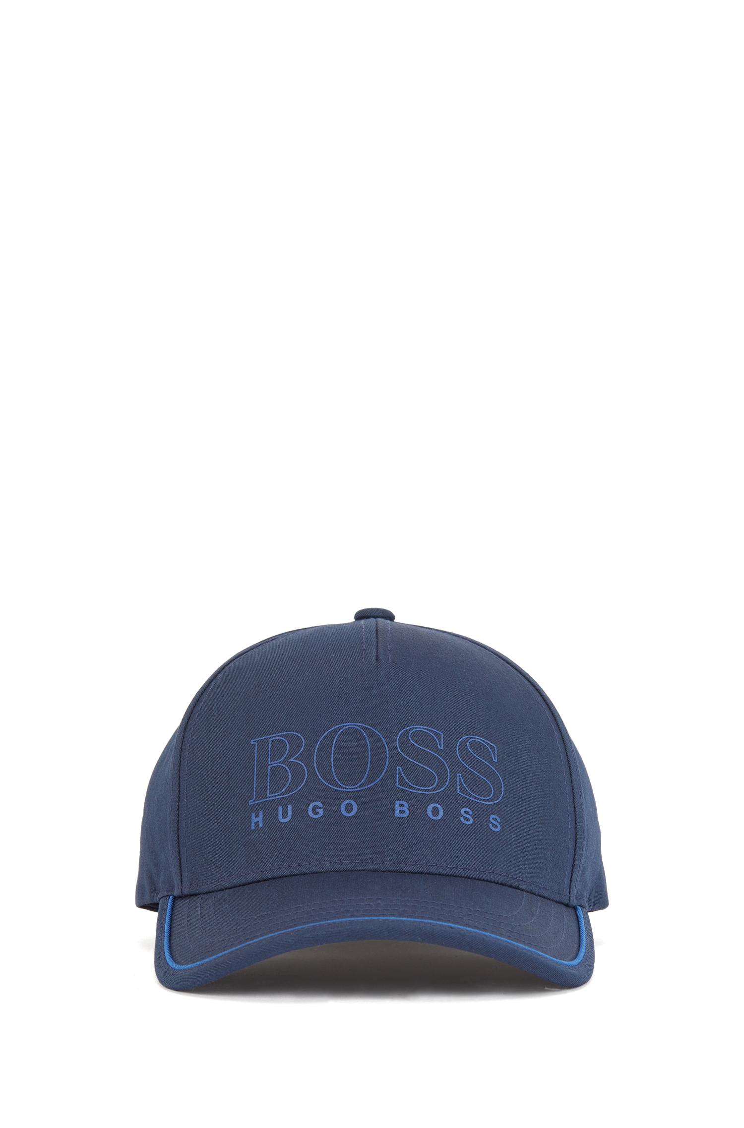 Um boné contemporâneo da BOSS. Desenhado em uma mistura de algodão com ponto de sarja, este boné apresenta um logotipo estampado em borracha