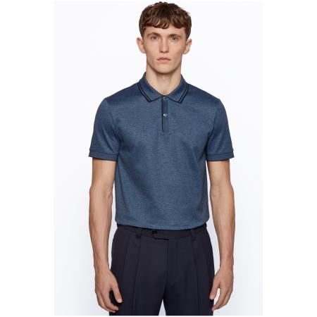 Um polo desportiva com corte regular, da BOSS Menswear. Este polo de mangas curtas é confeccionado em algodão Oxford com ponto de piqué