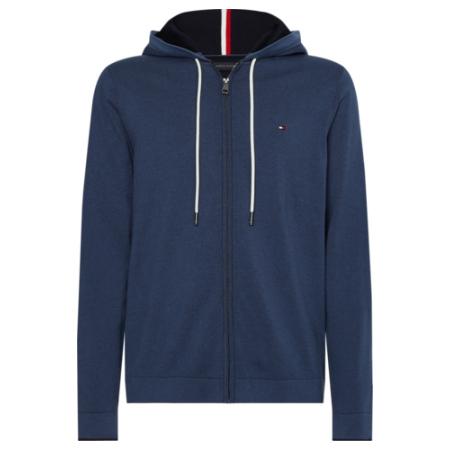 Sweatshirt básica da Tommy Hilfiger com capuz. Referência Fornecedor. TIPPED DOUBLE FACE ZIP HOODIE MW0MW17350.