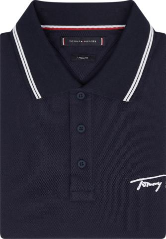 Polo Tommy Hilfiger SIGNATURE CASUAL em malha piquet um clássico e intenporar polo que serve em todas as ocasiões.