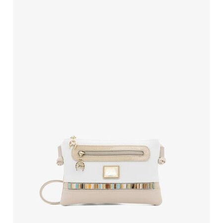 Bolsa de Senhora Cavalinho Crystal Line - Ref 18900273.05.99_7. Prática bolsa tiracolo com pormenor de bolso no exterior.