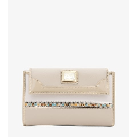 Carteira de Senhora Cavalinho Crystal Line - Ref 28900202.05.99. Acomoda até quinze cartões de crédito e inclui bolso com fecho de correr.