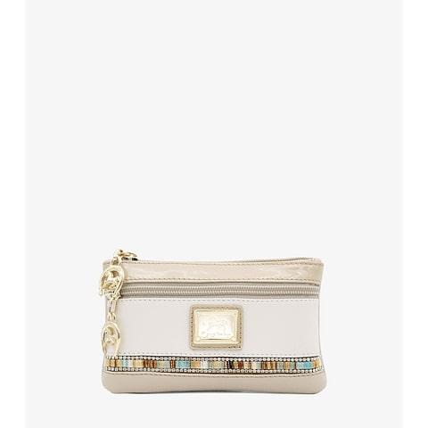 """Mini bolsa cosméticos Cavalinho da nova coleção """"Crystal Line"""". Em pele genuína e envernizada. Com duas divisões distintas para uma maior arrumação."""
