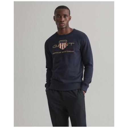 Sweatshirt GANT com logo retro de escudo, inspirado nos arquivos da marca. Criada com uma mistura de algodão e jersey extremamente suave.