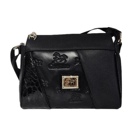 Bolsa tiracolo de senhora Cavalinho Black Horse SKU: 18500344.01.99, tem asa regulável e dispõem de um fecho de correr personalizado.