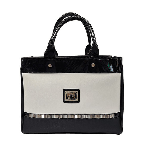 Bolsa de mão com alça de ombro extra SKU: 18900291.21.99. A divisão principal possui cinco compartimentos e um para telemóvel.