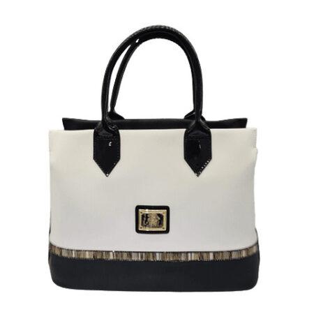 Bolsa de mão com alça de ombro extra SKU: 18900341.21.99. A divisão principal possui seis compartimentos, um fecho de correr e dois bolsos.