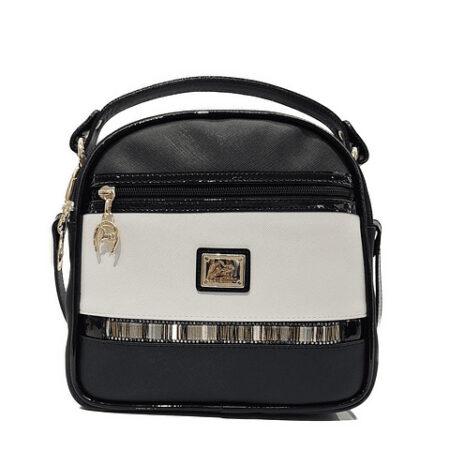 Bolsa de mão com alça de ombro extra SKU: 18900361.21.99. A divisão principal possui um fecho que dá acesso a três compartimentos.