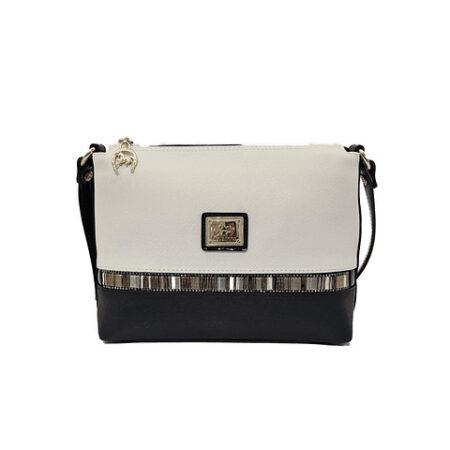 Bolsa tiracolo com asa regulável SKU: 18900374.21.99. Dispõe de um fecho de correr e o seu interior possui um compartimento para telemóvel.