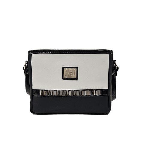 Bolsa tiracolo com asa regulável SKU: 18900376.21.99. Dispõe de um fecho e o seu interior possui um compartimento para telemóvel.