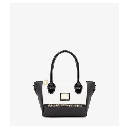 Mini bolsa de mão de senhora Cavalinho Crystal Line Black SKU: 18900377.21.99 com alça de ombro extra. A divisão principal dispõe de um fecho