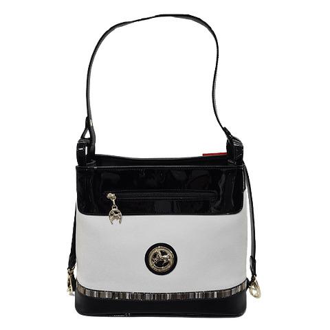 Bolsa com alça de ombro SKU:18900382.21.99.A divisão principal apresenta um fecho e no seu interior um bolso para telemóvel.