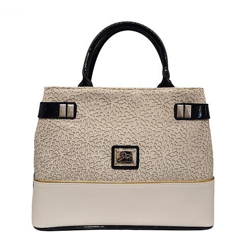 Bolsa de mão de senhora Gold SKU: 18930145.22.99 com alça de ombro. A divisão principal possui cinco compartimentos com fecho de correr.