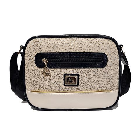 Bolsa de tiracolo de senhora Cavalinho Gold SKU: 18930190.22.99 com asa regulável. A divisão principal apresenta um fecho de correr.
