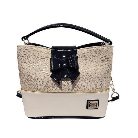 Bolsa de mão de senhora Cavalinho Gold SKU: 18930272.22.99. com alça de ombro extra e uma pala com fecho de íman e com fecho para telemóvel.