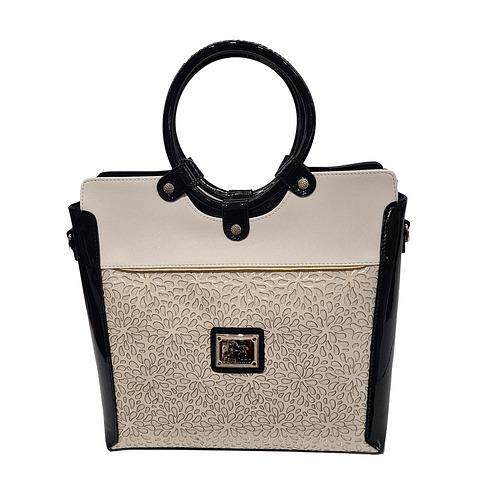 Bolsa de mão de senhora Cavalinho Gold SKU: 18930378.22.99. com alça de ombro extra. A divisão principal apresenta um fecho de correr.