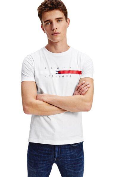 T-Shirt Tommy Hilfiger GLOBAL STRIPE CHEST de Homem
