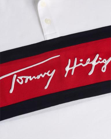 Polo Tommy Hilfiger de homem 1985 SIGNAT COLORBLOCK SLIM