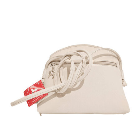 Bolsa de tiracolo de senhora Cavalinho Gold fecho de correr personalizado . No seu interior possui um bolso para telemóvel.