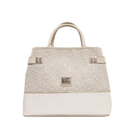 Bolsa de mão de senhora Gold SKU: 18930145.31.99 com alça de ombro extra. A divisão principal possui cinco compartimentos.