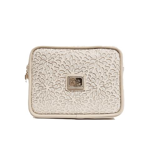 Bolsa de cintura muito prática e elegante para guardar carteira, telemóvel e muitos outros objetos. Ideal para andar de mãos livres.