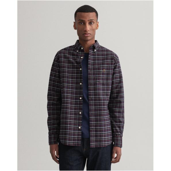 Camisa GANT com padrão de xadrez Beefy Oxford regular fit