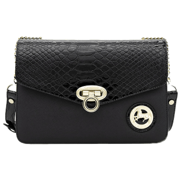 Bolsa com dupla funcionalidade devido a sua alça regulável, permite a opção de ombro ou tiracolo. Composta por uma pala com fecho.
