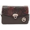 Bolsa com dupla funcionalidade devido a sua alça regulável, permite a opção de ombro ou tiracolo. Composta por uma pala de fecho.