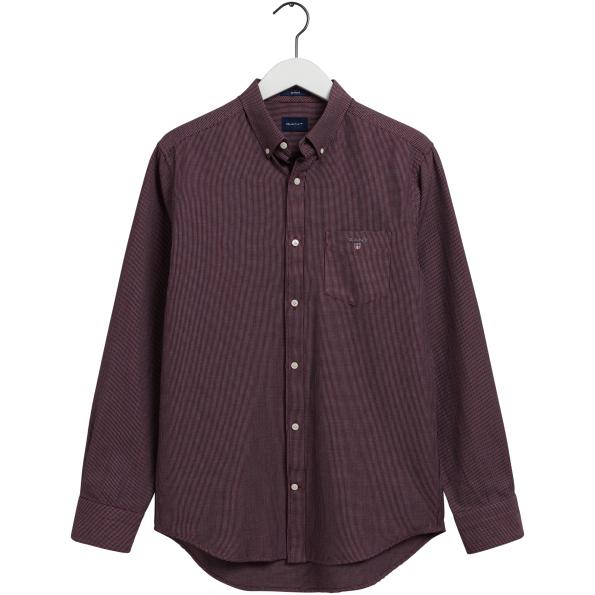 Camisa GANT Dobby regular fit, Concebida em tecido de malha de maquineta de algodão para uma textura visual subtil
